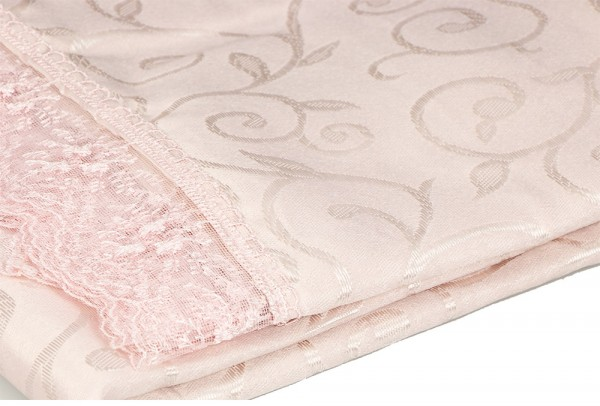 Trend Home Collection Tischdecke 100x100cm   100% Polyester   Rosa   Thc-pembe100x100
